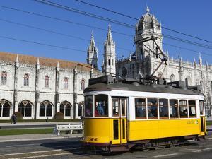 Mosteiro Dos Jeronimos, UNESCO World Heritage Site, and Tram (Electricos), Belem, Lisbon, Portugal by Stuart Black