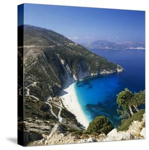 Myrtos Beach, North-West Coast, Kefalonia, Ionian Islands, Greek Islands, Greece by Stuart Black