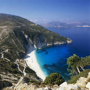 Myrtos Beach, North-West Coast, Kefalonia, Ionian Islands, Greek Islands, Greece by Stuart Black