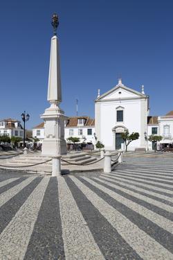 Obelisk in the Praca do Marques de Pombal, Vila Real de Santo Antonio, Algarve, Portugal, Europe by Stuart Black