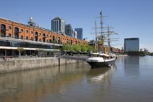 Old warehouses and office buildings from marina of Puerto Madero, San Telmo, Buenos Aires, Argentin by Stuart Black