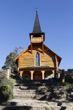 Parroquia San Eduardo, Puerto Panuelo, near Bariloche, Nahuel Huapi National Park, Lake District, A by Stuart Black
