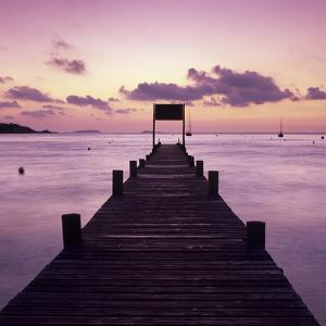 Pier at Dawn, Plage De Santa Giulia, South East Corsica, Corsica, France, Mediterranean, Europe by Stuart Black