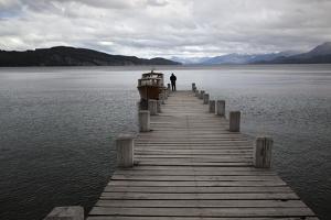 Pier on Lake Nahuel Huapi, Villa La Angostura, Nahuel Huapi National Park, The Lake District, Argen by Stuart Black