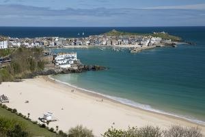 Porthminster Beach and Harbour, St. Ives, Cornwall, England, United Kingdom, Europe by Stuart Black