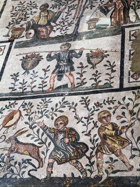 Roman Mosaic at Villa Romana Del Casale, UNESCO World Heritage Site, Piazza Armerina, Sicily, Italy by Stuart Black