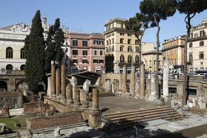 Roman Ruins in the Sacred Area (Area Sacra) of Largo Argentina, Rome, Lazio, Italy by Stuart Black