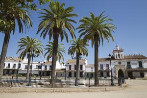 Sand streets and brotherhood houses, El Rocio, Huelva Province, Andalucia, Spain, Europe by Stuart Black