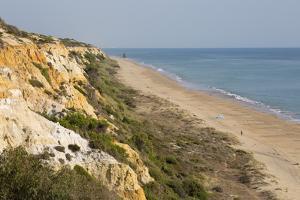 Sandy beach and cliffs, Mazagon, Costa de la Luz, Huelva Province, Andalucia, Spain, Europe by Stuart Black
