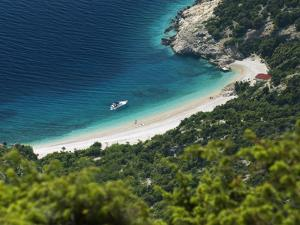 Secluded Beach Below Village, Lubenice, Cres Island, Kvarner Gulf, Croatia, Adriatic, Europe by Stuart Black