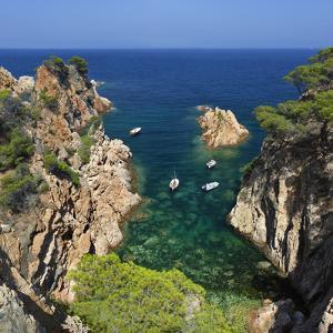 Secluded Cove, Aiguaxelida, Near Palafrugell, Costa Brava, Catalonia, Spain, Mediterranean, Europe by Stuart Black