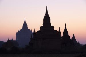 Sunrise over the Bagan Temples Dating from the 11th and 13th Centuries by Stuart Black