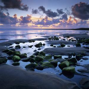 Sunset over Rock Pool, Strandhill, County Sligo, Connacht, Republic of Ireland, Europe by Stuart Black