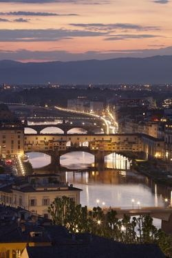 Sunset View over Florence and the Ponte Vecchio from Piazza Michelangelo by Stuart Black