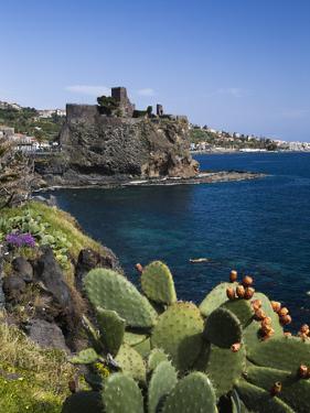 The Castle and Coastline, Aci Castello, Sicily, Italy, Mediterranean, Europe by Stuart Black