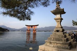 The Floating Miyajima Torii Gate of Itsukushima Shrine, Miyajima Island, Western Honshu, Japan by Stuart Black