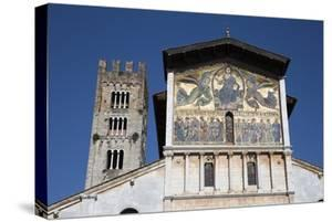 Thirteenth-Century Mosaic of the Ascension on the Facade of San Frediano, Lucca, Tuscany by Stuart Black