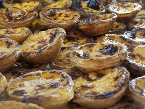 Traditional Portuguese Pasteis de Nata (Custard Tarts), Lisbon, Portugal, Europe by Stuart Black