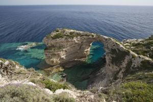 Trypitos Arch on west coast, Paxos, Ionian Islands, Greek Islands, Greece, Europe by Stuart Black