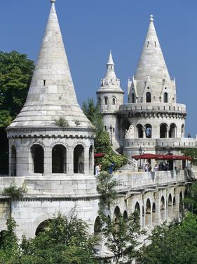 Turrets of Fishermen's Bastion (Halaszbastya), Buda, Budapest, Hungary, Europe by Stuart Black