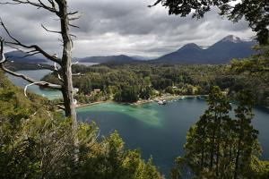 View of Lago Nahuel Huapi from Mirador Bahia Mansa, Parque Nacional Los Arrayanes, Villa La Angostu by Stuart Black