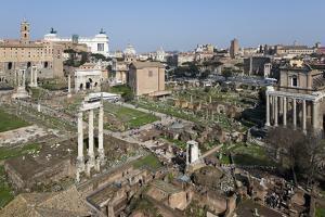 View of the Roman Forum (Foro Romano) from the Palatine Hill, Rome, Lazio, Italy by Stuart Black