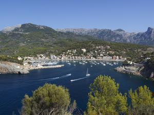 View over Bay and Harbour, Port De Soller, Mallorca (Majorca), Balearic Islands, Spain, Mediterrane by Stuart Black