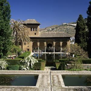 View over Gardens, Alhambra Palace, UNESCO World Heritage Site, Granada, Andalucia, Spain, Europe by Stuart Black
