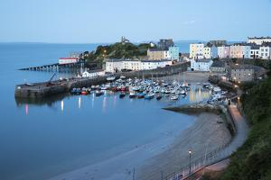 View over Harbour and Castle, Tenby, Carmarthen Bay, Pembrokeshire, Wales, United Kingdom, Europe by Stuart Black