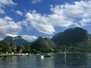 View over Lake, Talloires, Lake Annecy, Rhone Alpes, France, Europe by Stuart Black