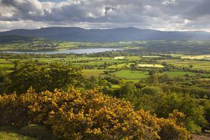 View over Llangorse Lake to Pen Y Fan from Mynydd Troed by Stuart Black