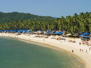 View over Palolem Beach, Palolem, Goa, India, Asia by Stuart Black