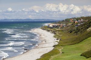 View over Rageleje Strand beach with Swedish coastline in distance, Rageleje, Kattegat Coast, Zeala by Stuart Black