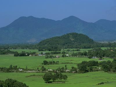 View over Rice Fields from Rich Pass, Near Hue, North Central Coast, Vietnam, Indochina, Southeast