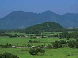 View over Rice Fields from Rich Pass, Near Hue, North Central Coast, Vietnam, Indochina, Southeast  by Stuart Black