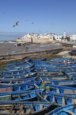 View over the Fishing Harbour to the Ramparts and Medina by Stuart Black