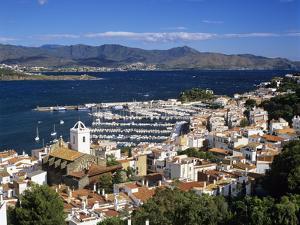 View over Town and Port, El Port De La Selva, Costa Brava, Catalunya, Spain, Mediterranean by Stuart Black