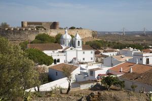 View over white town and 13th century castle, Castro Marim, Algarve, Portugal, Europe by Stuart Black