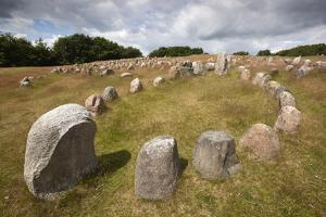Viking Burial Ground with Stones Placed in Oval Outline of a Viking Ship by Stuart Black