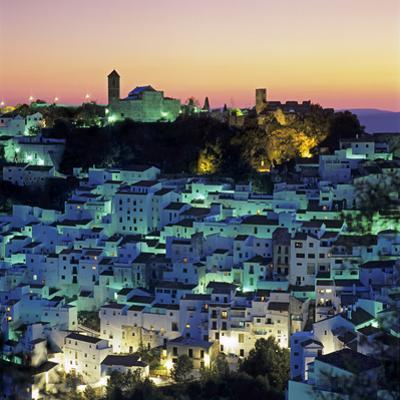 White Andalucian Village at Dusk, Casares, Andalucia, Spain, Europe by Stuart Black