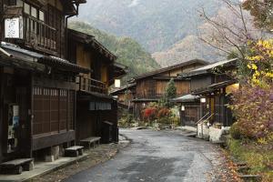Wooden Houses of Old Post Town, Tsumago, Kiso Valley Nakasendo, Central Honshu, Japan, Asia by Stuart Black