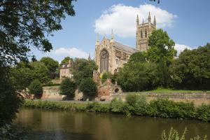 Worcester Cathedral and the River Severn, Worcester, Worcestershire, England by Stuart Black