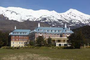 Chateau Tongariro Hotel and Mount Ruapehu by Stuart