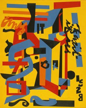 Something on the Eight Ball, 1953-1954 by Stuart Davis