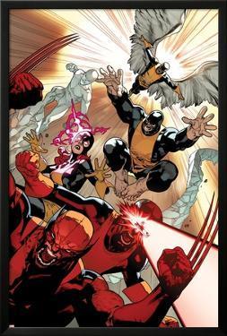 All-New X-Men #10 Cover: Wolverine, Cyclops, Grey, Jean, Beast, Iceman, Angel by Stuart Immonen