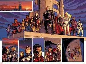 Fear Itself No.1: Spider Woman, Spider-Man, Wolverine, Iron Man, Steve Rogers, Thor and Others by Stuart Immonen
