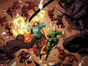 New Avengers No.5: Dr. Strange and Wong Fighting by Stuart Immonen