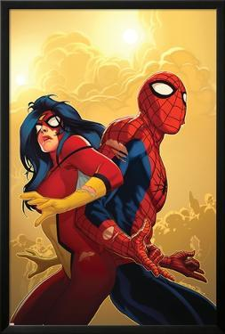New Avengers No.59 Cover: Spider-Man and Spider Woman by Stuart Immonen
