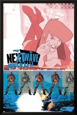 Nextwave No.3 Cover: Bloodstone and Ellie Fighting by Stuart Immonen