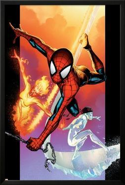 Ultimate Spider-Man No.118 Cover: Spider-Man, Iceman and Firestar by Stuart Immonen